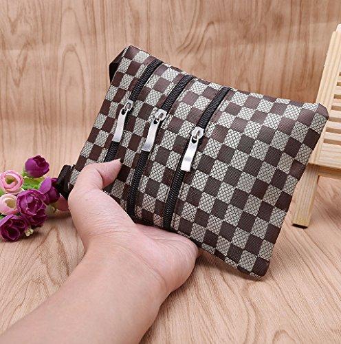 Dairyshop Donne Piccola borsa Borsa borsa della del sacchetto del corpo della borsa del sacchetto (Nero) Lattice Khaki