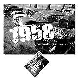 DigitalOase BILD/Poster + GeburtstagsKarte im Set 1958