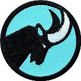 2 x Steinbock Abzeichen gestickt 45 mm / Zeichen Tier Symbol für Kraft Ausdauer Geschicklichkeit / Applikation Aufnäher Aufbügler Flicken Sticker Patch für Mode Sport Kleidung Tasche Rucksack