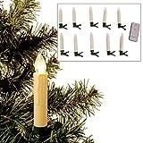 Buri 10er LED Christbaumkerzen kabellos Weihnachtskerzen Weihnachtsbaum Lichterkette