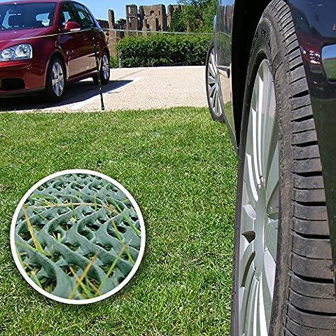 GrassProtecta® Rasenschutz Gitter Premium 2kg/m², 2m x 20m plus 200 Befestigungshaken aus Stahl zum Paketpreis. 69,96 Euro Preisvorteil gegenüber