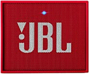 (Renewed) JBL Go + Portable Wireless Bluetooth Speaker with Mic (Red)