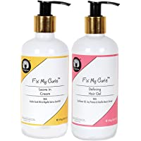 Fix My Curls Styling Bundle With Defining Hair Gel And Leave In Cream 250 G Each