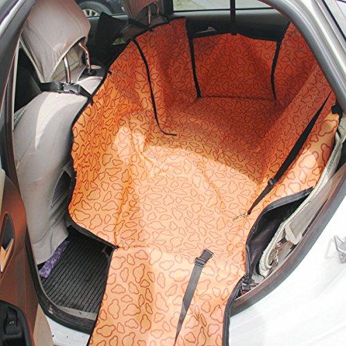 PETCUTE Hund Auto Sitzbezug Schondecken Haustiere Schutz Hängematte Abdeckung Katze Wasserdicht Rücksitzbezug mit Seitlichen Klappen für Auto SUV Truck