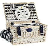 Picknick-Korb gestreift, Marine für 4 Personen