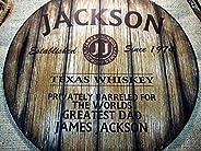 Insegna Decorativa Personalizzata Ispirata alle Vecchie Canne di Whisky, Regali Personalizzati per Uomo, Arred