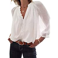 VERA Damen Freizeit Elegant Business Langarm weiße Hemd