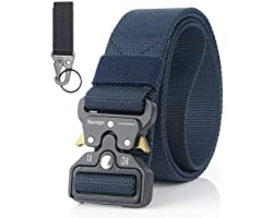 Men Tactical Belt, Military Style Quick Release Nylon Belt, Gift with Hook