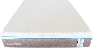 غوشي مفرش فوم مفرد مقاس 10 انش, ابيض - الارتفاع 25.4 سم x العرض 90 سم x العمق 200 سم
