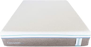 Gossoon 10 Inch Foam Single Mattress, White - H 25.4 cm x W 90 cm x D 200 cm