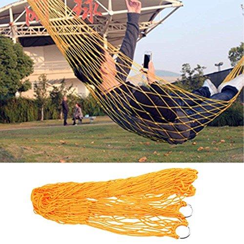 AZX Hamaca de Malla, Hamaca al Aire Libre, Hamaca Portátil del Nylon (Naranja)