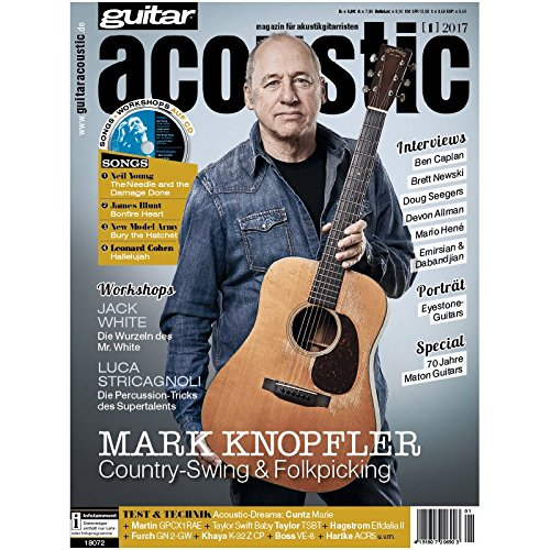 guitar acoustic 2 2017 mit CD - Mark Knopfler - Interviews - Akustikgitarre Workshops - Akustikgitarre Playalongs - Akustikgitarre Test und Technik