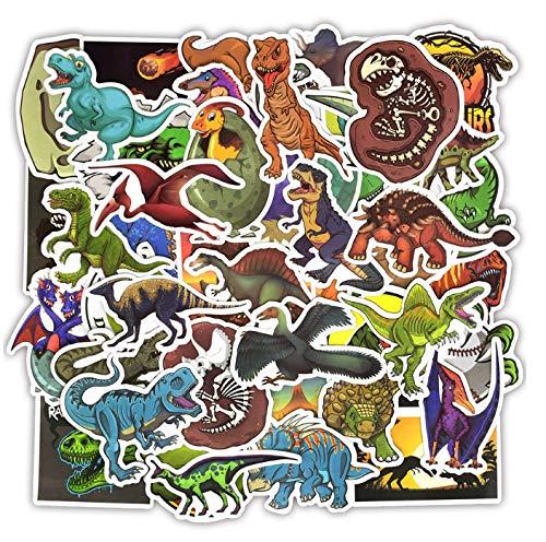 DZCYAN 50 stücke Dinosaurier Aufkleber Spielzeug für Kinder Tier lustige Aufkleber Aufkleber Dekoration Jurassic Park zu DIY Laptop Skateboard Koffer b