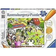 Ravensburger 00518 - tiptoi Ponyhof Puzzeln, 100 Teile