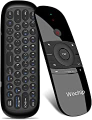 Wechip W1 2.4G air Mouse Wireless Keyboard Remote Control Infrared Remote Learning 6-axis Motion Sense w/USB Receiver for Smart TV android TV BOX Laptop PC