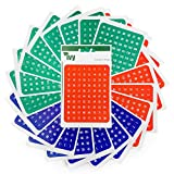 Self Adhesive Coloured Numbered Labels 1-160 - In Red, Blue and Green [Pack of 1,920 labels] - Made in the UK by IVY Stationery - (231020)