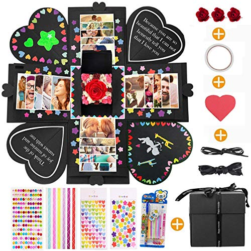 MMTX Explosion Box Scrapbook Creative DIY Photo Album, Caja Sorpresa Regalo de...