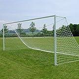 2 x Precision Junior 1.6mm Football Nets 21x7' Diamond Mesh White rrp£47