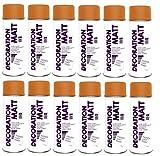 12er Sparpack DC Lackspray matt 400ml nach RAL freie Farbauswahl (12 Dosen in orange MATT RAL 2004)