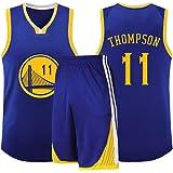 # 11 Golden State Warriors Klay Thompson Jersey de Baloncesto Hombres, Uniforme del Equipo Niños Traje Retro Poliéster sin Ma