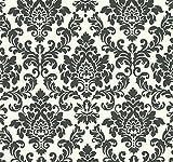 Thomas Vliestapete Tapete neo barock glamourös klassisch 10,05 m x 0,53 m weiss/schwarz TLT006
