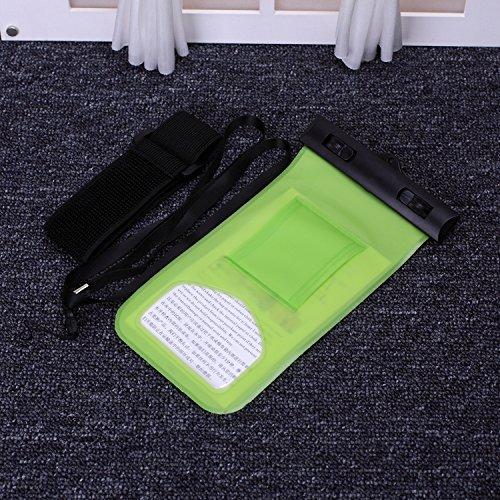 EKINHUI Case Cover wasserdichte handy mit kompass und sport armbinde transparente hohe empfindlichkeit für das iphone 6 65 plus se 5 s, samsung galaxy, lg, sony und anderen smartphone huawei ( Color : Green