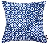TOM TAILOR 564205 Kissenhülle T Ornaments, 40 x 40 cm, Polyester, blau/weiß