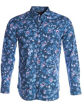 BOSS Orange Cattitude Shirt in Navy Floral