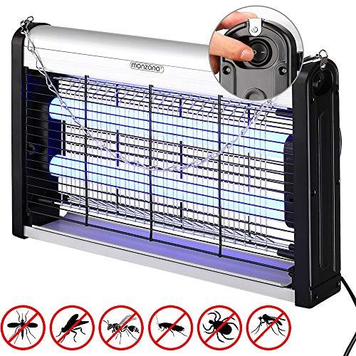 Monzana Insektenfalle elektrischer Insektenvernichter UV LED Mückenlampe Fliegenfänger 25m² inkl. Aufhängung