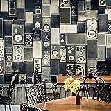 LHDLily 3D Fondos de pantalla Papel pintado Wallpaper Fresco Mural 3D Stereo Altoparlante Nostalgia Collage Grande Murale Bar Ktv Box Cafè Lounge Soggiorno Murale Di Sfondo 350cmX250cm