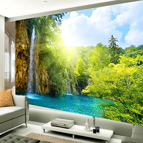 ACYKM Fotopapier der Berg- und Wasserlandschaft im chinesischen Stil 3D-Wandbilder Fotopapier...