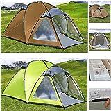 Deuba Zelt Kuppelzelt Campingzelt | für 3 Personen | Wassersäule 4.000 mm | braun/grau | 250 x 220-150 x 164 cm