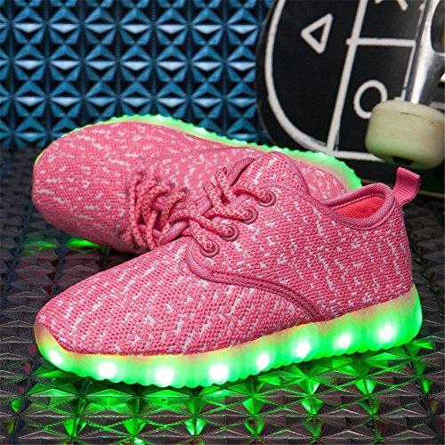 Softance Boys & Girls & Kids & Kleinkinder LED leuchten Schuh-Flashing Turnschuhe Pink
