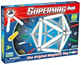 Plastwood Supermag Toys- 0123 – Maxi Magnetic Construction Kit One Color, 66 pieces, assorted colours