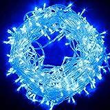 Guirlande 10M 20M 30M 50M 100M imperméable à l'eau arbre de fête de mariage noël lampe EU lampe, USB 5M 40LED, lumières bleues