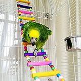 chou-rave Bird échelles, perruches en bois Jouets pour animaux Cage à oiseaux Hamac Swing jouet à suspendre pour perruches cacatoès, Conures, Aras, perroquets, inséparables, pinsons