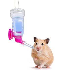 Jainsons Pet Products Pet Automatic Drinking Water Feeder Bottle for Cat Dog Rabbit Hamster Gerbil 125 ML (Color May Vary)