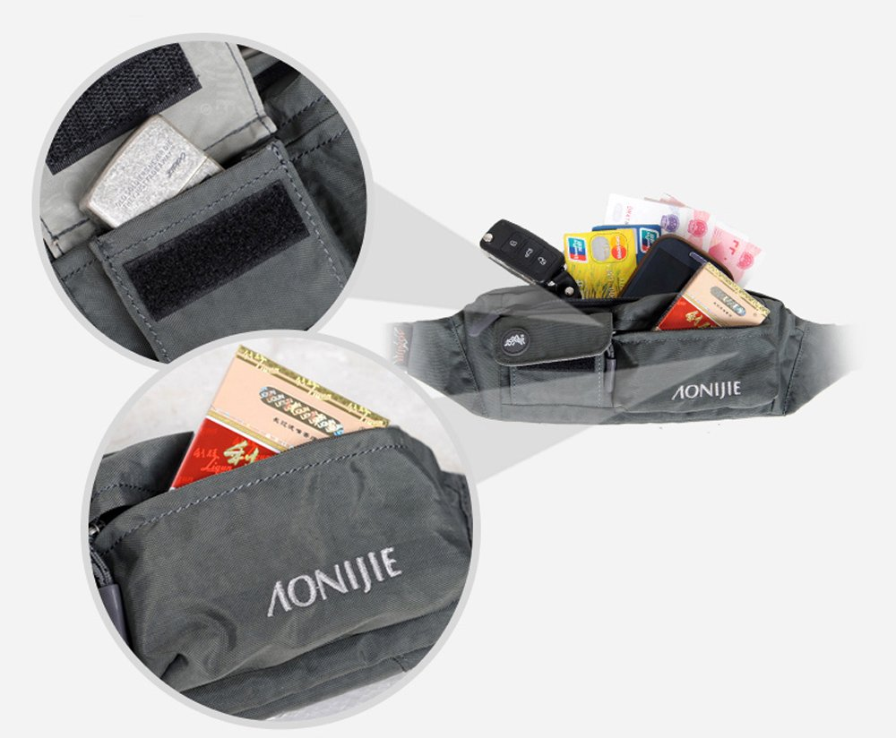 61HM1b16JBL - Waterfly Waist Bag Pack Slim Water Resistant Fanny Pack Travel Bum Bag Running Belt for Traveling Cy