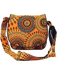 Guru-Shop Schultertasche, Hippie Tasche, Goa Tasche - Schwarz, Herren/Damen, Baumwolle, 22x23x5 cm, Alternative Umhängetasche, Handtasche aus Stoff