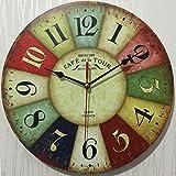 VariousWallClock Wall Clocks Wanduhr Uhren Wecker Uhr Haushalt Pendeluhr Retro Uhr Kreativ Kühlschrank Tisch 12 cm heißer Verkauf Antik europäische und Amerikanische Uhr