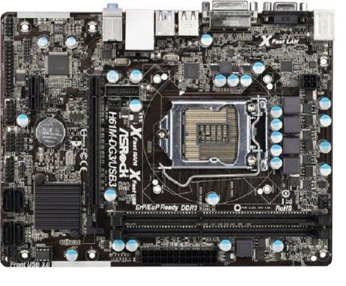 Mainboard Sockel 1155 (micro-ATX, Intel H61, 2x DDR3 Speicher, SATA II) ()