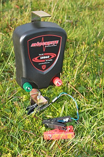 ShockRite Electric Fence 12v Energiser SRB60 0.6J Kit 200m Green Wire 25 Insulators 3