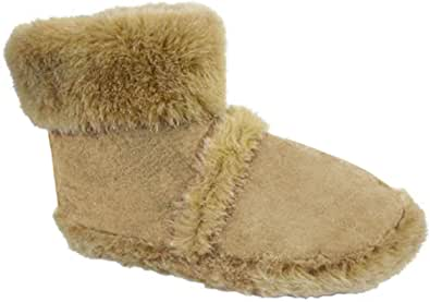 Coolers Men's Furry Ankle Boot Slippers Sizes 7-12