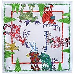 RENTIER STOFFSERVIETTEN (2) von MollyMac -Weihnachtszeit Napkin - Fantastische Qualität - Zeitgenössisches Design - Made in Großbritannien - 100% Baumwolle - 46 x 46 cm