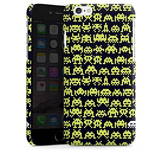 Apple iPhone 5 Housse Étui Silicone Coque Protection Sapce Invaders Alien Motif Cas Premium brillant