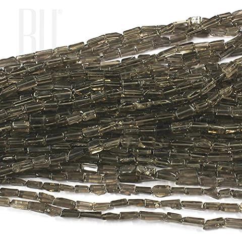 Be You grigio colore marrone naturale scozzese di pietre preziose perle di quarzo fumè chiaro rettangolo 5 linee sciolto 13 Inch Strand - Semplice Taglio Delle Pietre Preziose