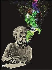 Albert Einstein Smoke Galaxy Lightweight Fleece Throw Blanket | 45 x 60 Inches