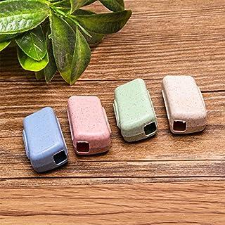 Allbusky Kunststoff-Zahnbürstengehäuse, Schutzgehäuse zur Aufbewahrung oder auf Reisen, tragbar, bunte Farben Toothbrush Case B