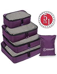 ZOMAKE Packing Cubes 5pcs, Travel Organizers Luggage Sets