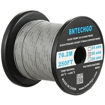 bntechgo 14 Gauge Silikon Draht High Temperature Resistant Weich und ...